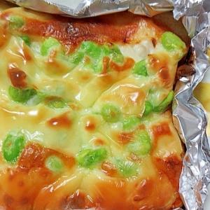 枝豆のピザトースト