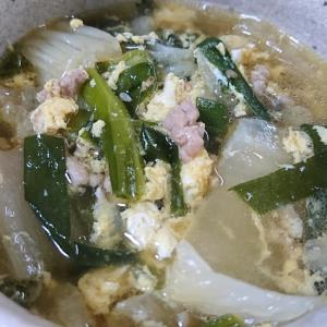 アツアツ☆めんつゆで簡単☆白菜とひき肉の簡単スープ