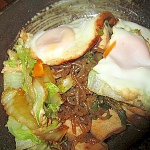 白菜鷄肉しらたき卵すき焼き