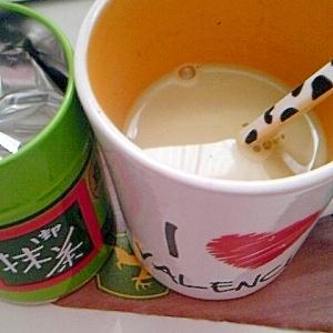 簡単 豆乳抹茶