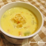コーンクリーム缶de時短♪簡単コーンスープ
