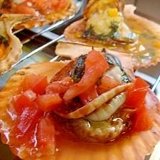 檜扇貝のニンニクバジルソース焼き よか魚ドットコム