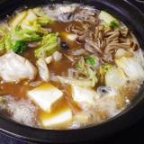 怠慢、あんこう麺つゆ味噌鍋