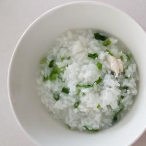 ささみ、ネギの中華粥