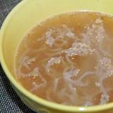 鍋の残りスープで! ヘルシ~ミニ・ラーメン♪