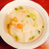 白菜と人参と大根と玉ねぎのホワイトシチュー