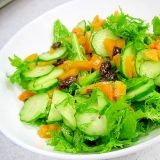 柿ドレのワサビ菜サラダ