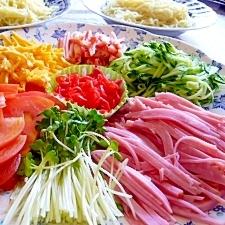 夏は冷やし中華!別盛り ウチの食べ方(●^o^●)