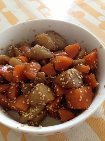ごぼうと人参の煮物 レシピ・作り方