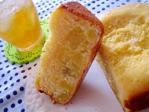 H.Bで。ゴロゴロサツマイモの蒸しケーキ