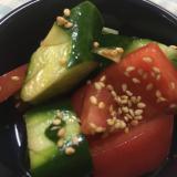 トマトとキュウリの中華和え