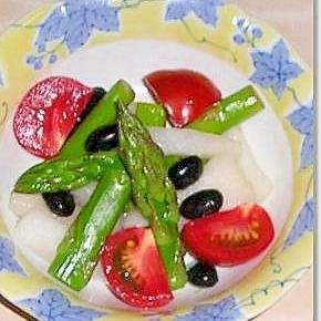 柚子大根と黒豆のサラダ