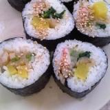 野菜のナムル&甘辛ちくわde韓国風海苔巻き♪
