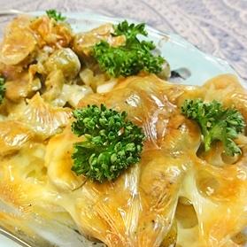 レンコンオリーブのチーズ焼き