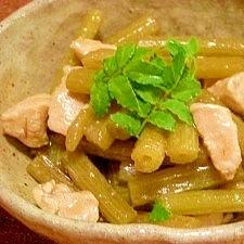 蕗と鶏肉のトロッと煮