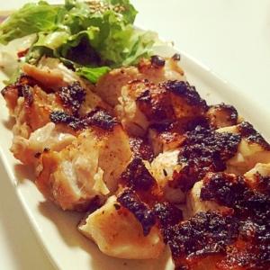 塩麹のやわらか鶏もも肉焼き