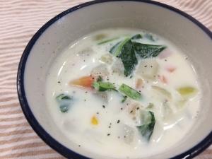 お野菜たっぷり!ぽかぽかミルクスープ