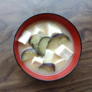 具だくさん☆茄子と豆腐の白味噌汁