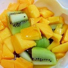 マンゴーとキウイのさっぱりフルーツデザート