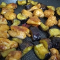 鶏もも肉と茄子の照り焼き