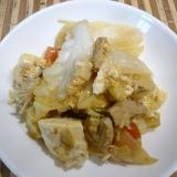 豆腐と卵の野菜炒め