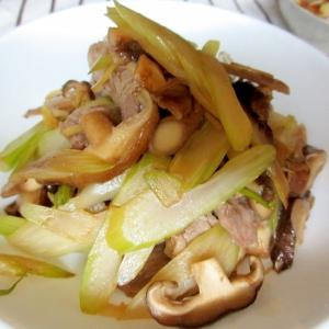 豚肉とセロリのソース炒め