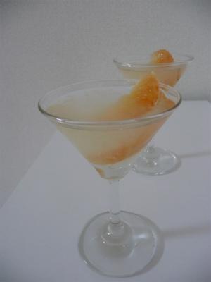 グレープフルーツとレモンのゼリー
