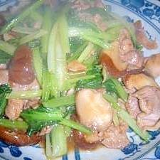 豚肉とターサイの中華炒め