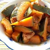 かぼちゃと豚肉の煮物☆生姜入り