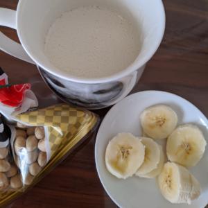 節分のお豆で♡きなこ風味のバナナスムージー♡