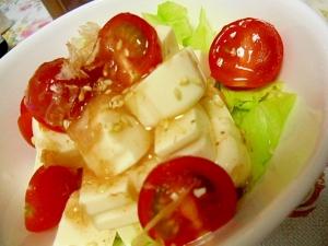 ヘルシー豆腐と生野菜のサラダ