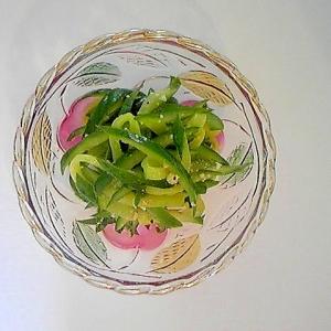 胡瓜のチーズ生姜和え