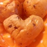 バレンタインに!ハートのチョコパン♡