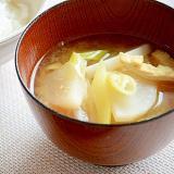 ☆減塩レシピ☆ 大根と油揚げのお味噌汁