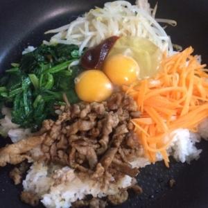 フライパンで簡単★野菜たっぷり石焼風ビビンバ