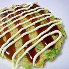 塩麹で味付け☆ ヘルシ~豆腐入りお好み焼き♪