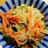 ジンギスカンの野菜炒め