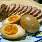 ラーメンや丼物に!しっかり味の半熟味付け卵