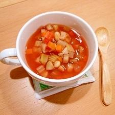 豆入り具だくさんトマトスープ
