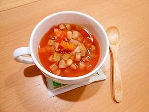 栄養満点!豆入り具だくさんトマトスープ