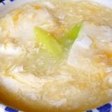 お豆腐とネギのトロトロ卵スープ♪