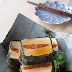 揚げだし風 豆腐とたらこのはさみ焼き