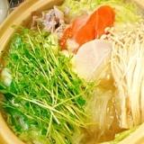 簡単な調味料で☆塩ちゃんこ鍋☆