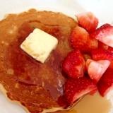 朝食に☆オートミールパンケーキ