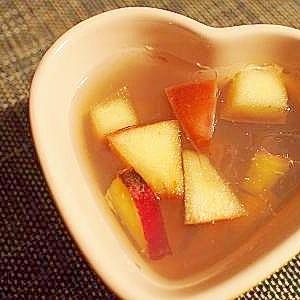 薩摩芋と林檎の寒天ゼリー♪