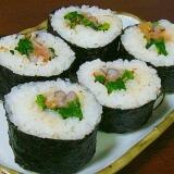 トリ貝と明太子の巻き寿司♡