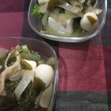 絹豆腐の野菜うずら卵庵