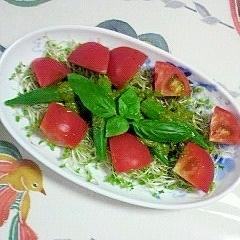 オクラとトマトのサラダ~♪