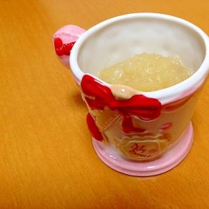 離乳食に林檎ジャム:*・'(*゚▽゚*)'・*:.