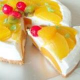 電子レンジで作れる!桃のホワイトムースケーキ